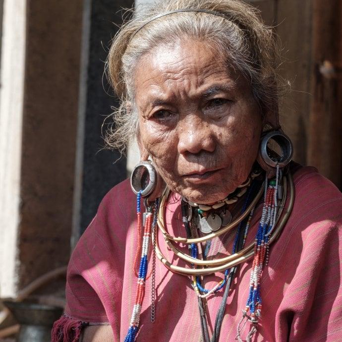 Frauenporträt Myanmar